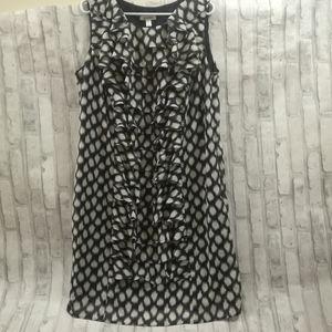 Dressbarn Sleeveless Patterned Dress
